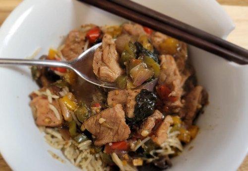 Stir-Fried Black Pepper Pork