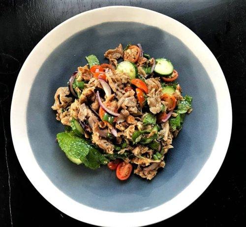 Thai Herb Shaved Pork Salad - Healthy Thai Recipes