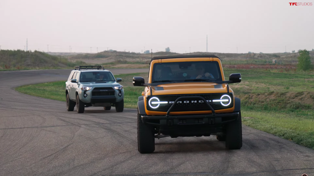 Watch a Bronco Smoke a 4Runner in a Drag Race Then Lose to Something Else Entirely