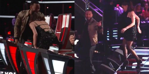 See Ariana Grande and John Legend Walk Off 'The Voice' After a Fight Broke Out