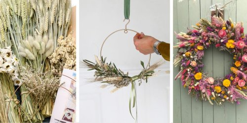 These spring wreath making kits are perfect for Easter