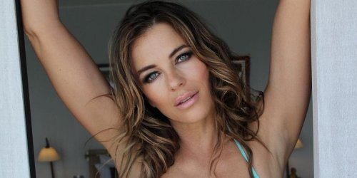 Elizabeth Hurley Is All Toned Abs And Legs In a New Aqua Bikini Instagram Pic