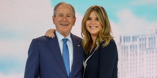 See Jenna Bush Hager's Hilarious Reaction to George W. Bush's Painting of Her