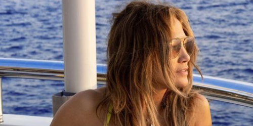 Here's Jennifer Lopez Posing in a Tiny Bikini on a Yacht, as One Does When You're J.Lo