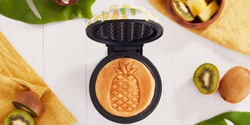This Mini Waffler Maker Will Give You a Pineapple-Stamped Breakfast