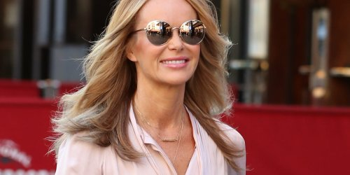 Amanda Holden holds on to summer in bright yellow dress