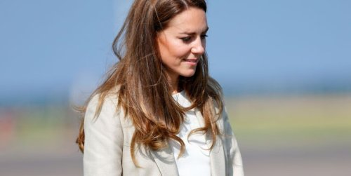 Kate Middleton wows in a cream blazer as she returns to work