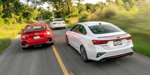Tested: 2020 Honda Civic Si vs. Kia Forte GT vs. VW Jetta GLI