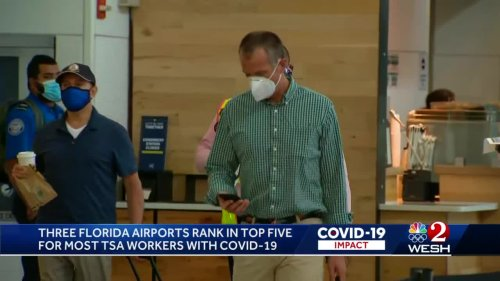 3 Florida airports rank in top 5 for most TSA workers with COVID-19