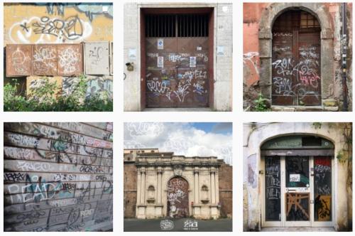 L'account Instagram della settimana è una caccia ai tag sui portoni romani