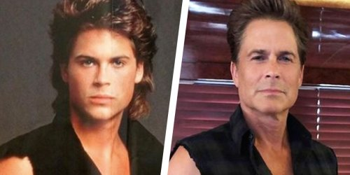 Rob Lowe Looks Eerily Ageless in These Identical Photos, Taken 36 Years Apart