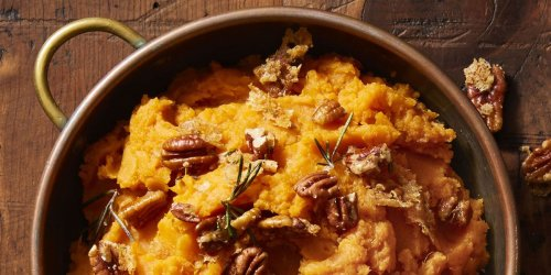 Rosemary-Pecan Mashed Sweet Potatoes