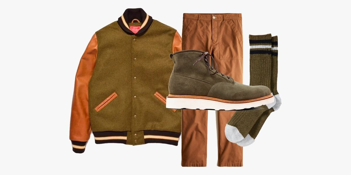 Today We'd Wear: A Varsity Jacket, Camp Pants, Wool Socks and Boots
