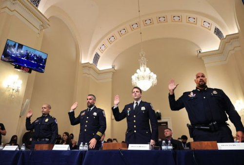 A Capitol Police Officer Slammed His Fist on the Table While Addressing January 6-Denying Congressmen