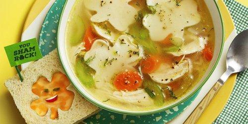 Chicken Shamrock Noodle Soup