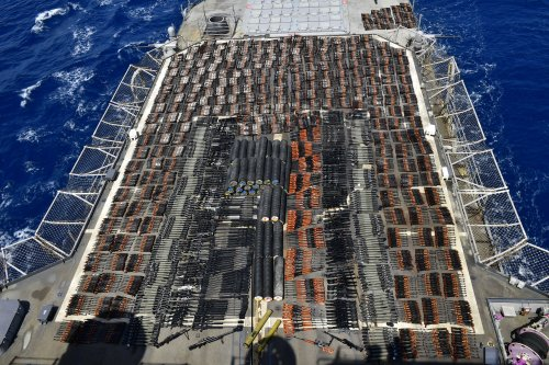 This Navy Cruiser Seized a Whole Floating Arsenal of Weapons