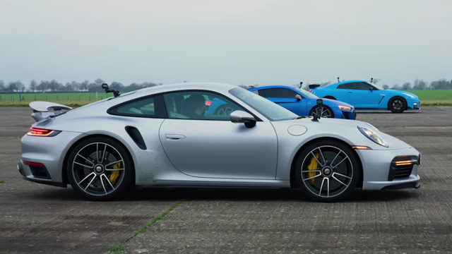 Watch the 911 Turbo S Beat More Competitors in a Drag Race