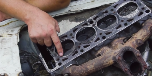Watch a ball bearing completely destroy an engine's cylinder