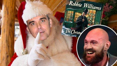 Robbie Williams announces Christmas album release - including a duet with Tyson Fury