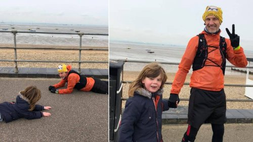 Mum thanks 'hero' stranger for lying on the pavement to calm her autistic son