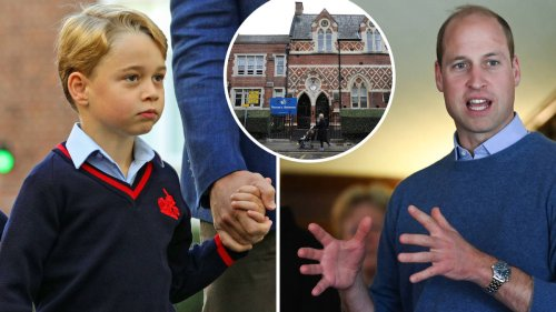 Prince George upset and confused about litter on his school's road, says William