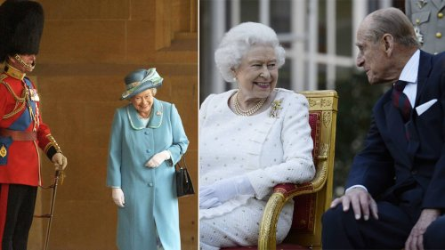 The Queen caught 'giggling' at Prince Philip in touching photo