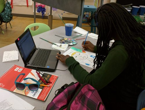 Schools use art therapy to help kids through trauma