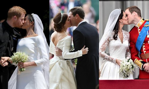 The best royal wedding kisses through the years, from Kate Middleton and Prince William to Prince Albert and Princess Charlene - HELLO! Canada