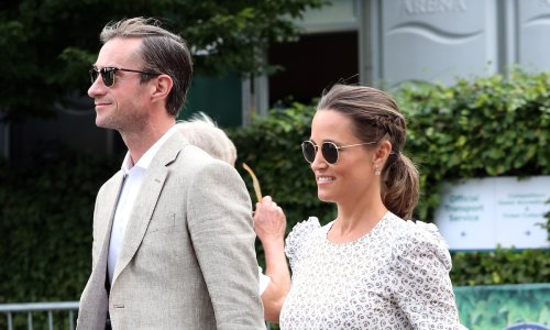 Pippa Middleton looks stunning for romantic date night with husband James