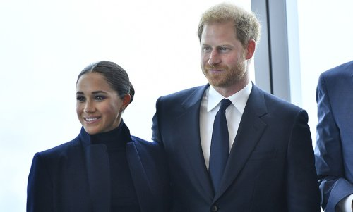 Prince Harry and Meghan Markle visit One World Trade CCenterntre in New York