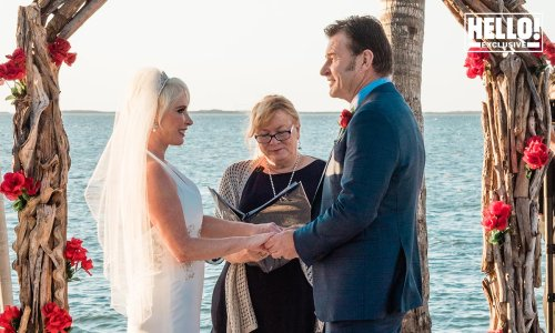Exclusive: Sir Nick Faldo shares wedding photo from romantic Florida ceremony with Lindsay De Marco