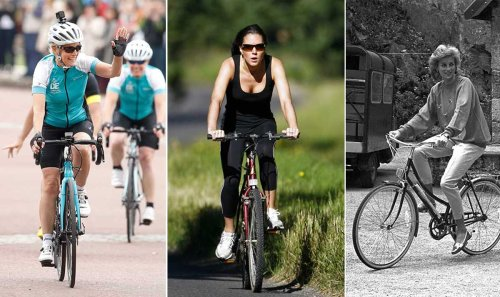 Royals enjoying a bike ride: Kate Middleton, Sophie Wessex, Prince Louis and more
