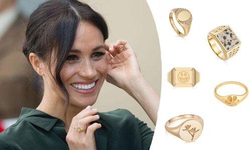 11 best signet rings for women - the 2021 pinky ring trend Meghan Markle loves