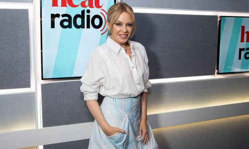 Kylie Minogue looks incredible with long flowing hair