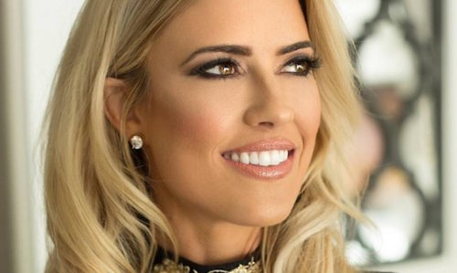 Christina Anstead sizzles in a pink swimsuit for celebratory reason