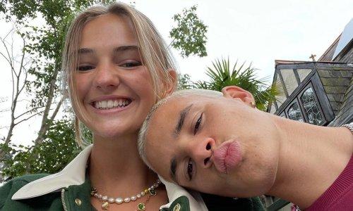 Romeo Beckham and girlfriend Mimi Regan celebrate good news following Miami move