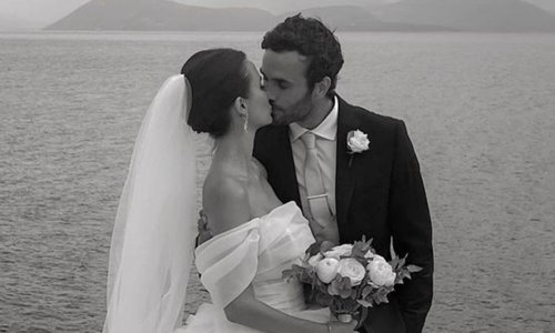 Lucy Watson's Greek wedding to James Dunmore is out of this world – photo