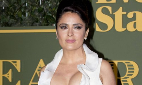 Salma Hayek wows in strapless white dress during dreamy photoshoot