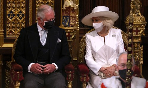 The Duchess of Cornwall shows support for the Queen with poignant outfit detail