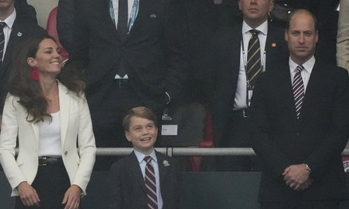 Kate Middleton hugs son Prince George is rare public display of affection – and fans go wild