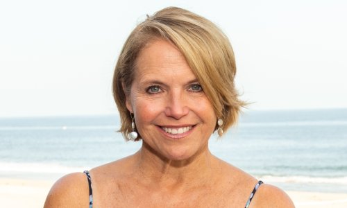 Katie Couric stuns in figure-hugging swimsuit at the beach