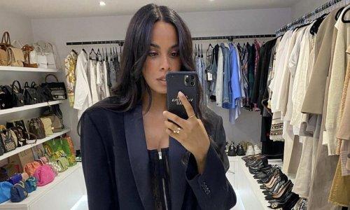 Rochelle Humes' walk-in wardrobe literally looks like the inside of Zara