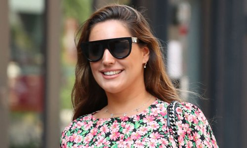 Kelly Brook's floral Mango blouse is perfect for summer – and it's on sale