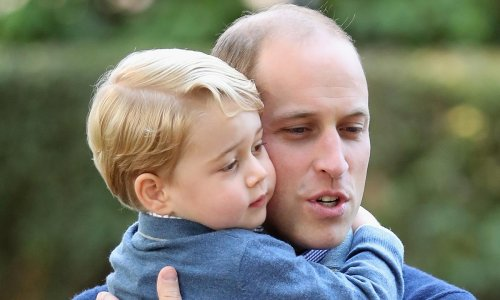 Prince William has the sweetest picture of Prince George and Prince Philip is his office