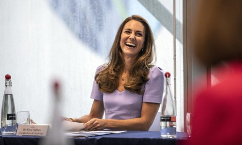 Kate Middleton is a ray of sunshine in L.K. Bennett x Royal Ascot dress and rainbow umbrella