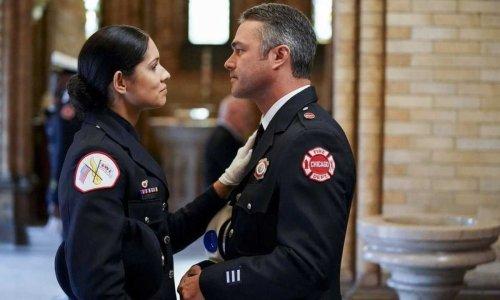 Chicago Fire's Miranda Rae Mayo sends Taylor Kinney heartfelt message - after spoiling season 10 for fans
