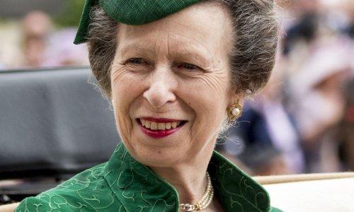 Princess Anne wows in elegant satin dress during Jersey trip