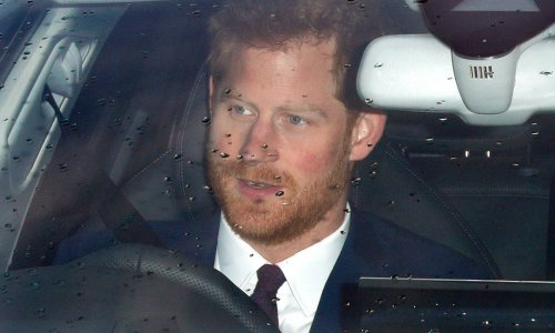 Prince Harry pictured at Los Angeles airport as he gets flight to London