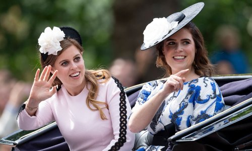 Princess Eugenie and Princess Beatrice look flawless in at beautiful Greek wedding