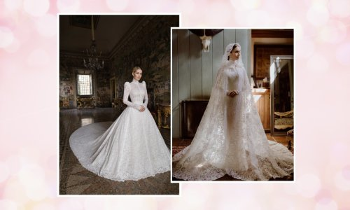 Fairytale wedding gowns are officially back, thanks to the likes of Lily Collins and Lady Kitty Spencer